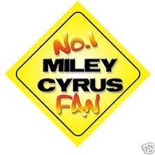No.1 Miley Cyrus Fan Car/Door/Window Hanger/Sign