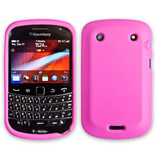 Pink Soft Silicone Skin Cover Case Protector for BlackBerry Bold 9900 / 9930
