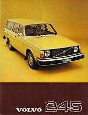 Volvo 245 1976-77 UK Market Single Sheet Sales Brochure DL DLE 240-Series