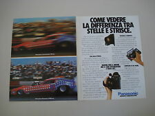advertising Pubblicità 1987 PANASONIC VHS-C MOVIE MC-5