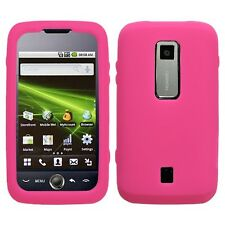 Hot Pink Rubber Silicone SKIN Case Huawei Ascend M860