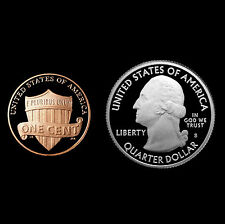 2013 S Lincoln Shield Penny & White Mountain NH ATB ~ Mint Proof ~ Two Coin Set