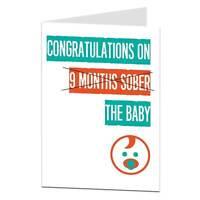 Funny Congratulations New Birth Baby Boy Girl Card New Mother Mum Joke Fun