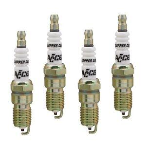 "Accel 0526-4 U-Groove Resistor Spark Plug; 14mm Thread; .708"" Reach; 4 Pack"