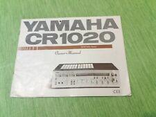 YAMAHA CR1020 ORIGINAL OWNER MANUAL  -  MANUALE D'USO ORIGINALE