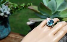 Ava Ro Sterling Silver and Swarovski crystal ring S 8 NWT