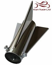 Royal Enfield Exhaust Silencer ROCKET Tail Motorcycle Motorbike end Cap 48mm Dia
