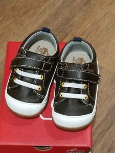 New Smaller by See Kai Run,Stevie II brown leather early walkers shoes,3,NIB