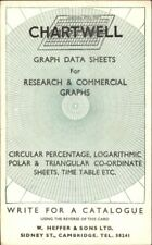 Chartwell Graph Data Sheets W Heffer & Sons Cambridge UK Math Science PC