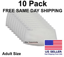 10 Pack Adult PM2.5 5 Layer Carbon Face Super Fresh Air Mask Filter Replacements