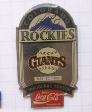 COCA-COLA / MLB COLORADO ROCKIES / SAN FRANCISCO GIANTS ... Baseball Pin (117g)