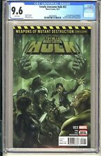 Totally Awesome Hulk #22  CGC 9.6 WP NM+ Marvel  2017 Wolverine 1st app Weapon H