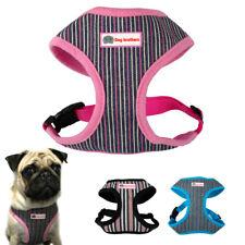 Nylon Mesh Striped Dog Harness Leash Set Pet Puppy Small Medium Dog Walking Vest