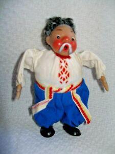 "Vintage 6"" Cloth Doll from Mockba Russia"