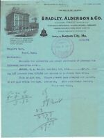 U.S. Bradley, Alderson & Co. Kansas 1904 Illustrated Pd Invoice Letter Ref 41960