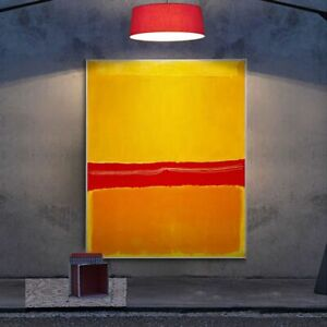 Minimalist Abstract Colorful Color Block Modern Canvas Painting Wall Art Picture
