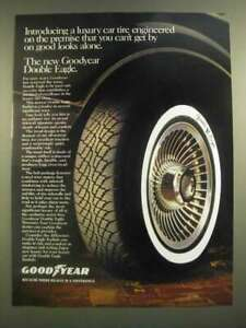 1988 Goodyear Double Eagle Tire Ad - Can't Get By On Good Looks Alone