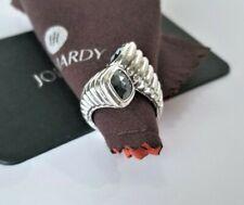 John Hardy Bedeg Hematite Bypass Sterling Silver Twist Ring -size 7 - Mint! $695