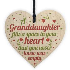 Granddaughter Plaque Keepsake Birthday Christmas Gift From Grandma Nan Grandad