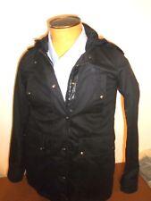 Belstaff Georgina Parka Hooded Boat-tail Jacket euro size 40 US 6 $1095 Black