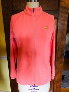 Magnolia Lane Tech Masters Golf Orange Full Zip Active Jacket Golf Womens Sz L