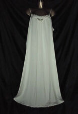 VINTAGE ST MICHAEL LONG SLIPPERY IVORY POLYESTER NIGHTGOWN SIZE 16 38 BUST