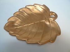 PIER 1 Ceramic Leaf Decor Plate Serving Platter Copper Fall Decoration