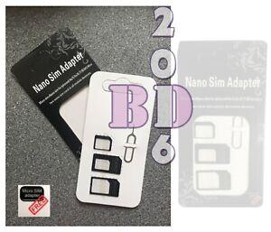 Universal Nano, Black Micro, Mini Sim Card Adapter_Converter to Standard Sim