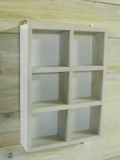 CHINEWOOD SHABBY CHIC PIGEON HOLE RUSTIC SHELVING UNIT WOOD DISPLAY CASE