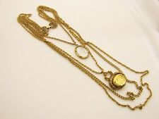 Vintage Goldette Intaglio Necklace with a Fob Spinner