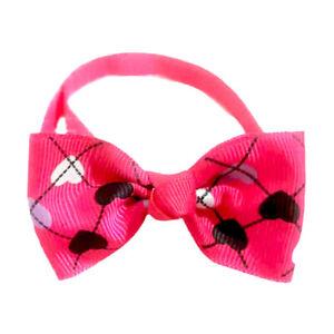Adjustable Pet Dog Cat Bow Tie Neck Collar Puppy Teddy Bowtie Necklace Collar *