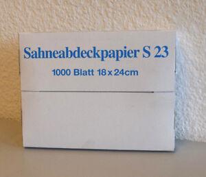 1000 Blatt Sahneabdeckpapier  S 23  -  18 x 24cm