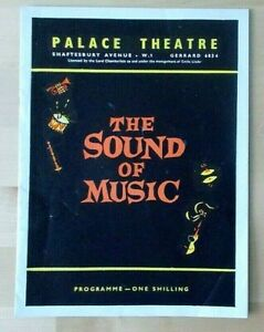 The Sound Of Music programme Palace Theatre 1966 Sonia Rees Donald Scott 300366