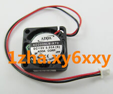 For 1pc ADDA Ball Bearing MINI DC fan AD2005LB-K70 5V 0.05A 20x20x6mm@Z62