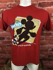 New listing Vintage Made In Usa Disney Mickey Mouse Iowa Velva Sheen Shirt Large -319