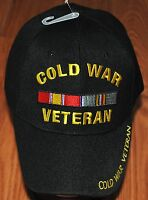 New Black US Military Cold War Veteran Hat Baseball Ball Cap Army Navy Marines