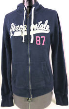 Aeroposstal Aero Women Heart Love Fleece Popover Hoodie Sweatshirt Jacket NWT