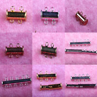 5/10Pcs Multi Strand Slide Magnetic Tube Clasps Hook Necklace Jewelry Findings