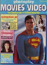 Photoplay 2x1 magazines rare superman + rare poster 1983 OCTOPUSSY Richard Gere