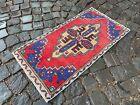 Small rug, Geometric handmade rug, Bohemian rug, Kitchen rug    1,5 x 2,9 ft