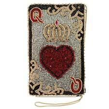 Mary Frances Queen of hearts Card Gamble Evening 19 Pre Bead Handbag Bag New