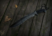 CUSTOM HANDMADE FORGED D2 CARBON STEEL BIG SASQUATCH MACHETE HUNTING BOWIE KNIFE