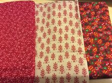 "3 pcs cotton fabric from America. 18x22"",18x22.5"",18.5x24"". Pack 8."