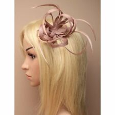 Nude Clip Feather Fascinator Ladies Day Royal Ascot Races Wedding Hair Clip 1