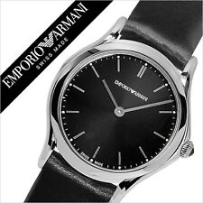 Emporio Armani Swiss ARS7012 Black Sunray Dial Black Strap SS Watch $695