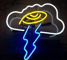 "Lightning Cloud Neon Light Sign Acrylic 24"" Lamp Beer Pub Decor Glass Artwork"