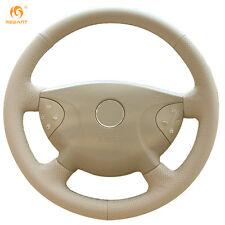 Beige Leather Steering Wheel Cover for Benz W210 E240 E63 E320 E280 02-05 #BA66