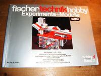 fischertechnik Hefte hobby Experimente + Modelle hobby 4 Band 2, TOP