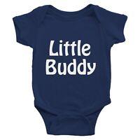 Little Buddy Infant Baby Rib Bodysuit Clothes Romper Newborn Gift Funny (3M-24M)