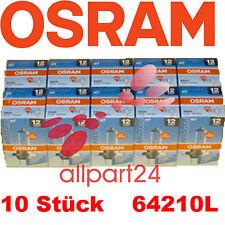 10 X Osram 64210L Lámpara H7 Largo Vida 12V/55W PX26d 10 Unid en Caja Nuevo y
